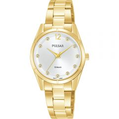 Pulsar PH8506X Swarovski Crystal Gold  WR100  Womans Watch