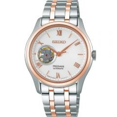 Seiko Presage SSA412J Silver/Rose Mens Watch