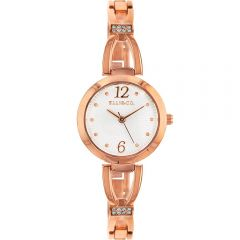 Ellis & Co Stone Set Rose Ladies Watch