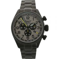 Aviator Airacobra P45 Chrono V.2.25.5.174.5 Mens Black Leather Watch