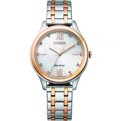 Citizen Eco-Drive Ivory EM0506-77A Womens Watch