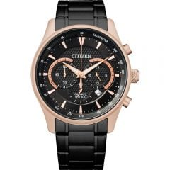 Citizen Quartz Chronograph Black and Rose AN8196-55E Mens Watch