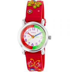 ECC  Kids Red Butterfly Watch