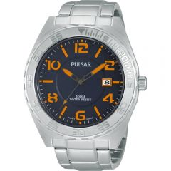 Pulsar PS9313X Stainless Steel 100 Metres Mens Watch