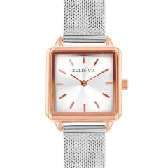 Ellis & Co 'Alyssa'  Stainless Steel Mesh Bracelet Womens Watch