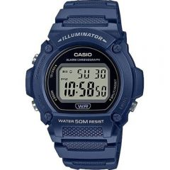 Casio W219H-2 Blue 50 Metres Water Resistant Digital Watch