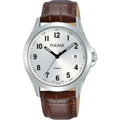 Pulsar PS9657X Mens Brown Leather Watch