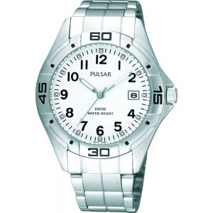 Pulsar PXH937X Mens 100m Stainless Steel Watch