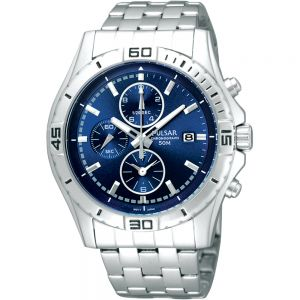Pulsar PF8397X Chronograph Stainless Steel Mens Watch