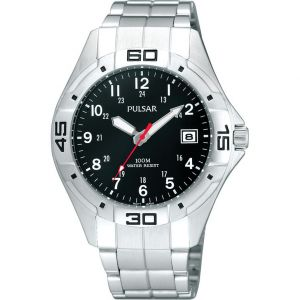 Pulsar PXHA41X WR100 Stainless Steel Mens Watch