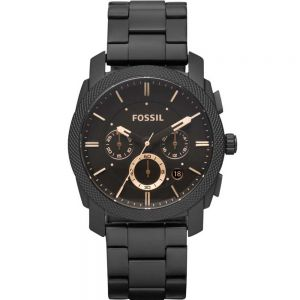 Fossil Machine Chronograph FS4682 Black Stainless Steel Men Watch