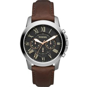 Fossil Grant Chronograph FS4813 Brown Leather Mens Watch