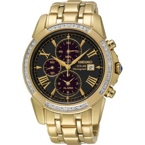 Seiko SSC314P-9 Le Grand Sport Solar Diamond Set Mens Watch
