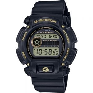 Casio DW-9052GBX-1A9DR Black and Gold Mens Watch