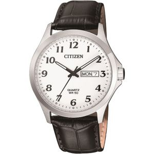 Citizen BF500001A Stainless Steel Mens Watch With Black Leather Band