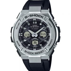 Casio G-Shock GSTS310-1A Tough Solar 200m Black and Stainless Steel Mens Watch