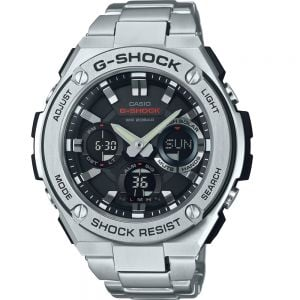 Casio G Steel Solar Wold Time GSTS110D-1A Stainless Steel Mens Watch