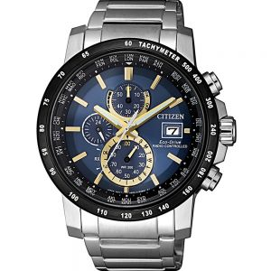 Citizen Eco-Drive Perpetual Calendar AT8124-83M Silver Stainless Steel Mens Watch