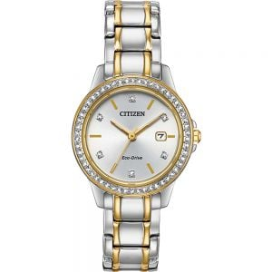 Citizen Eco-Drive Diamond FE1174-50A Two-Tones Stainless Steel Womens Watch