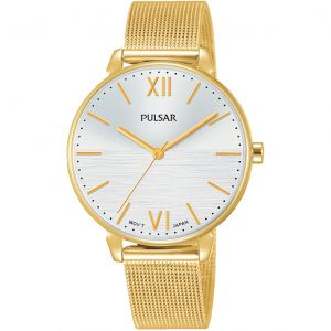 Pulsar PH8446X Gold Stainless Steel Mesh Womens Watch