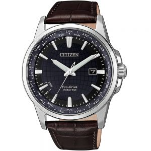 Citizen World Time BX1011-11L Brown Leather Mens Watch