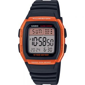 Casio W96H-4A2 Digital Black Resin Youth Watch