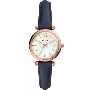 Fossil Carlie ES4502 Blue Leather Womens Watch