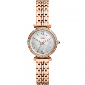 Fossil Carlie Mini ES4648 Rose Stainless Steel Womens Watch