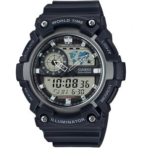 Casio World Time AEQ200W-1A Mens Watch