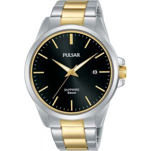 Pulsar PS9641X Two Tone Stainless Steel Mens Watch