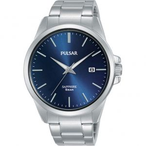 Pulsar Sapphire PS9637X Blue Dial Stainless Steel Watch