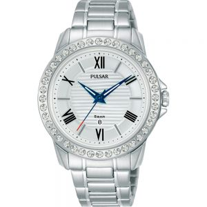 Pulsar PH7519X Swarovski Crystals Stainless Steel Womens Watch