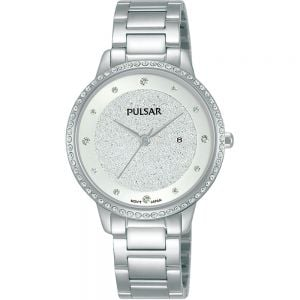 Pulsar COP9128 Swarovski Crystals Womens Watch