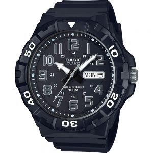 Casio MRW210H-1A Black Resin White Mens Watch