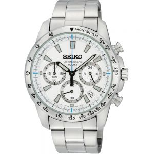 Seiko SSB025P Chronograph Stainless Steel Mens Watch