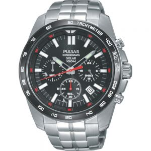 Pulsar PZ5005X Solar Chronograph Mens Watch