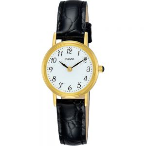 Pulsar PM2252X Black Leather Strap Ladies Watch
