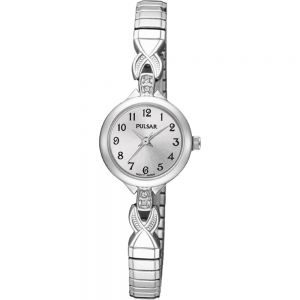 Pulsar PPH549X Expanding Stainless Steel Womans Watch