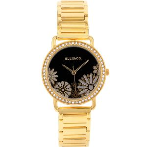 Ellis & Co 'Eden' Gold Tone Womens Watch