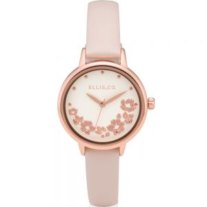 Ellis & Co 'Skylah' Women's Nude Leather Watch