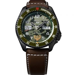 Seiko 5 SRPF21K Automatic Street Fighter Series 'GUILE - Indestructible Fortress'