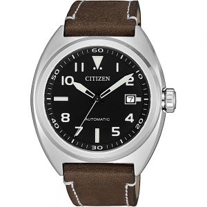 Citizen Automatic NJ0100-11E Brown Leather Mens Watch