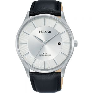 Pulsar PS9595X Leather Band Mens Watch