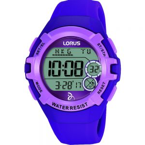Lorus Youth R2395LX-9 Digital Chrono Purple Unisex Watch