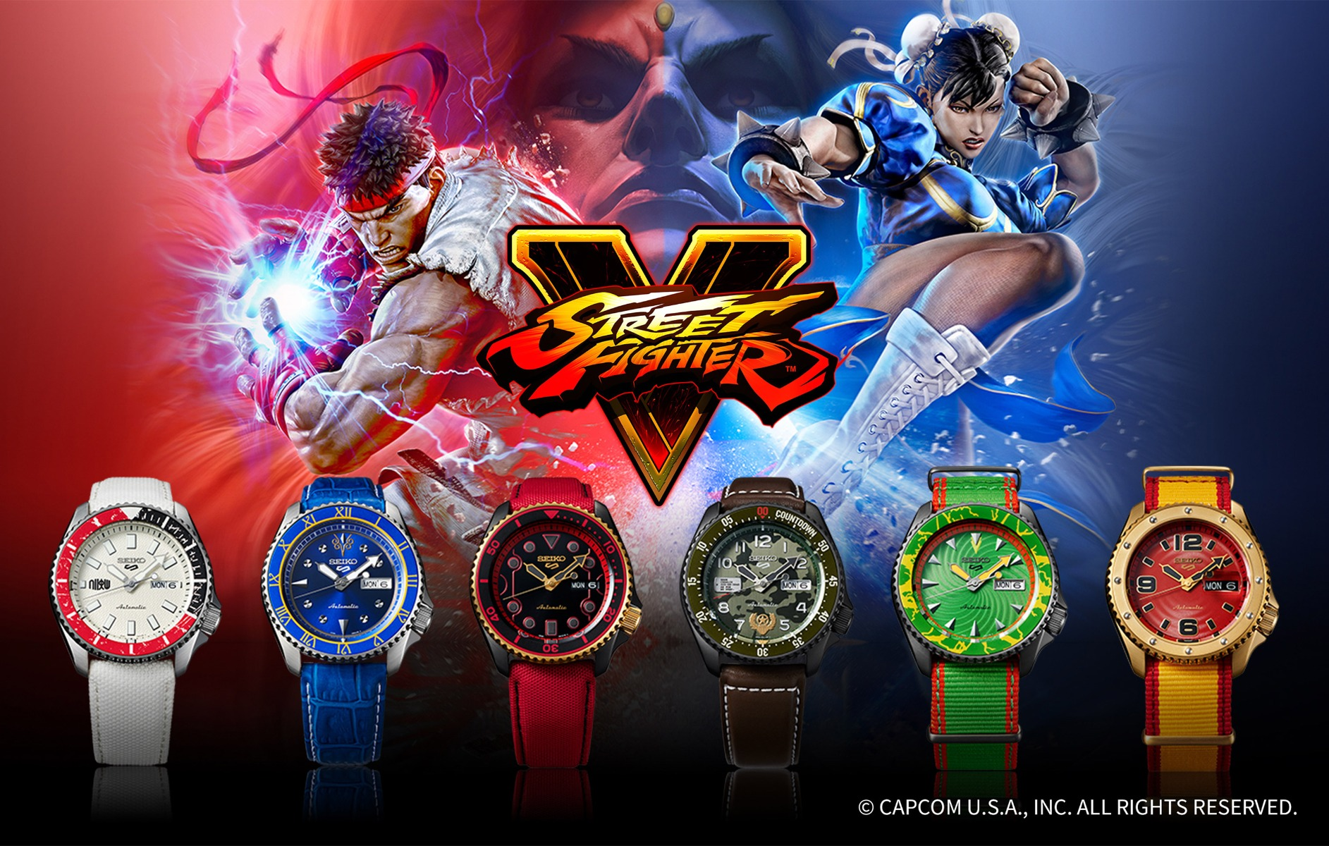 Seiko Street Fighter Limited Edition Series