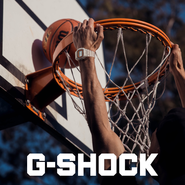 Playing basketball while wearing GShock watch