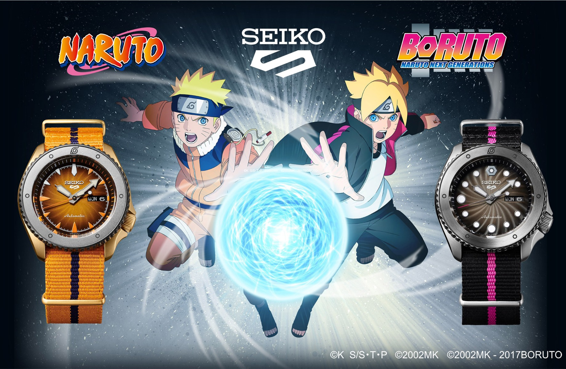 Seiko Naruto and Boruto Collaboration